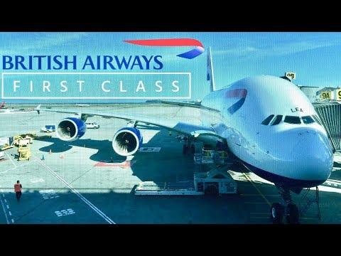 British Airways First Class Airbus A380 London Heathrow to San Francisco
