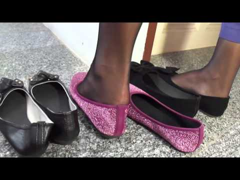 Asians Shiny Nylon & Flats Foot Tease Hd video