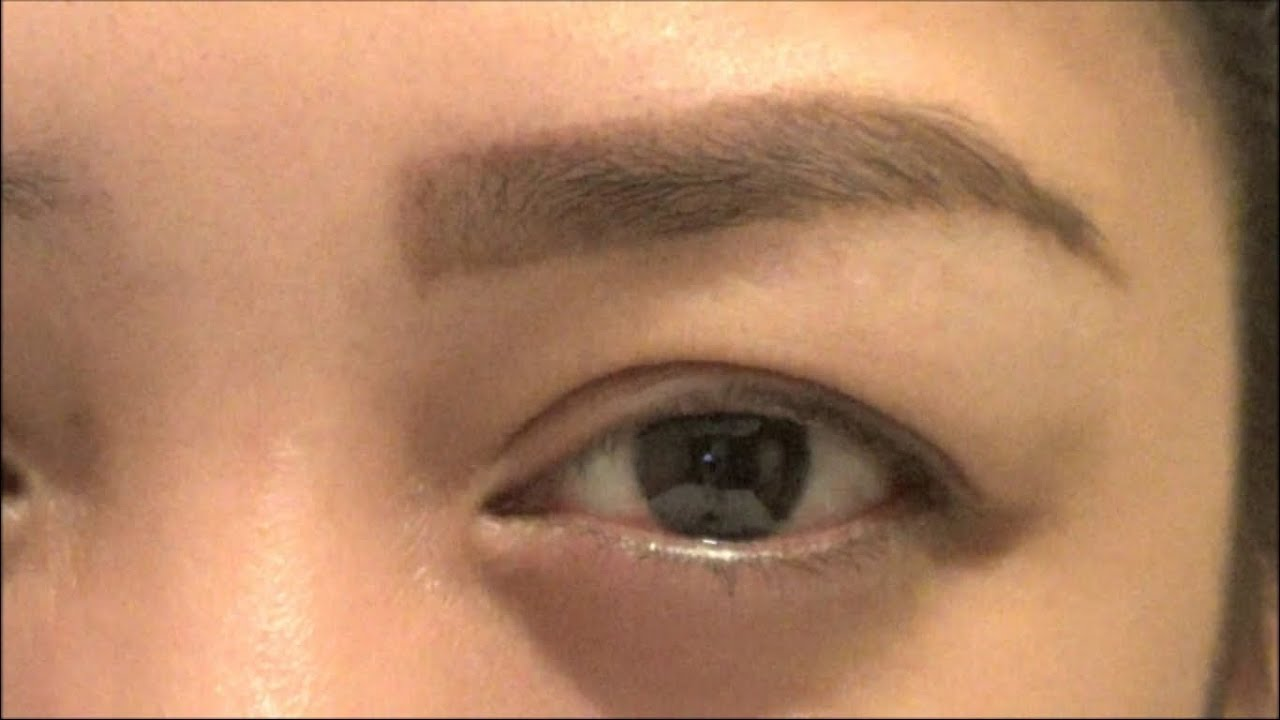 how to make your eyebrows darker with eyebrow pencil