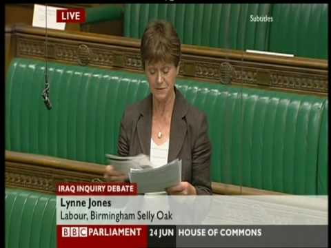 Iraq war chilcot inquiry debate, Lynne Jones speech, 24 June 09