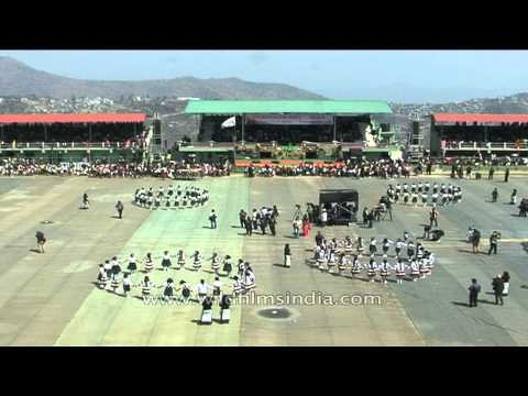 Mizo style of Ring a ring o roses performed during Chapchar...