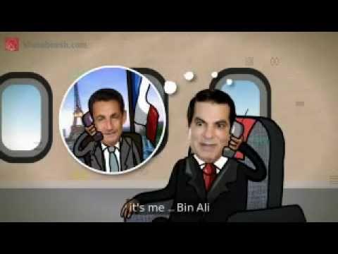 زين العابدين في الطيارة  zine el abidine ben ali cherche un refuge