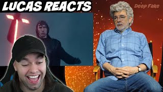 George Lucas Reacts to Episode 9 Trailer- Deepfake Reaction