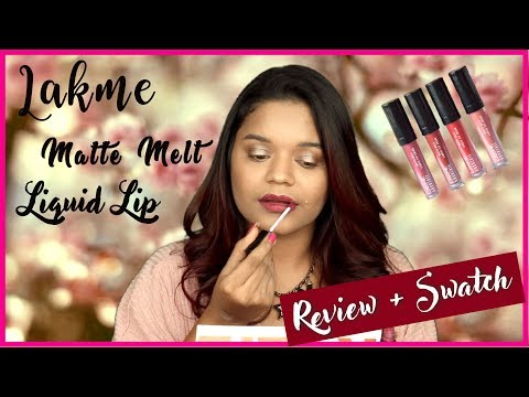 Lakme Absolute Matte Melt Liquid Lipcolour Review & Swatch || Miss Pink Shoes