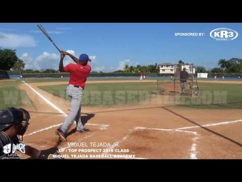 Miguel Tejada Jr OF 2018 Class (Miguel Tejada Baseball Academy) Date video: 15.06.2017 JDB