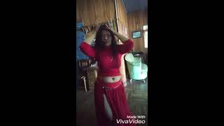 Sexy belly dance by lady long nails