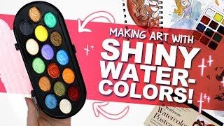 OooOOOoo! SHINY! ✨| Mystery Art Box | Paletteful Packs Unboxing | Pearlescent Watercolors