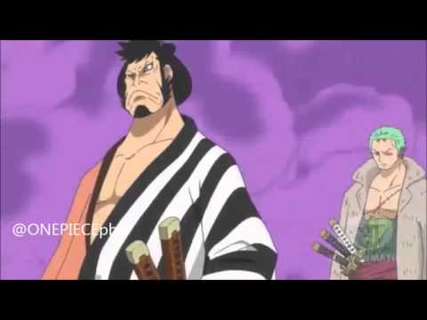 ONE PIECE   Episode 603 Zoro and Kinemon cuts the steel shutter!