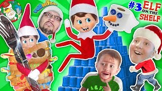 STACKING CUPS Elf on the Shelf Tower! DIY Build a Snowman  Toilet Paper Craft FUNnel Vision Vlo
