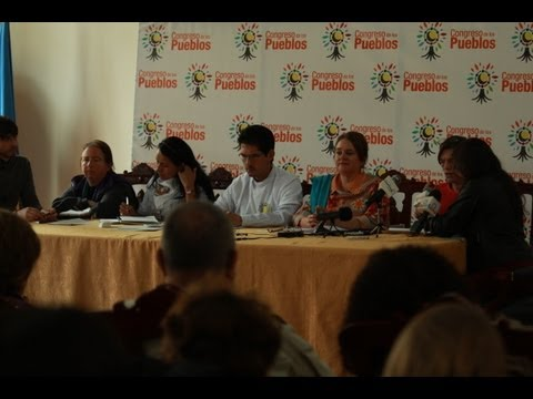 Rueda de prensa del Congreso para la Paz