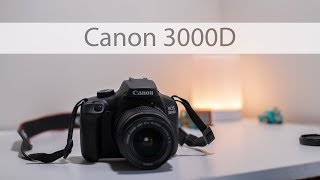 Canon 3000D Unboxing  and First Setup