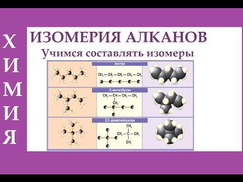 Изомерия алканов. Учимся составлять изомеры алканов. ЕГЭ.