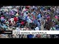 تصاویری از انبوه مهاجران هندوراسی در گواتمالا؛ پلیس راه را سد کرده است…