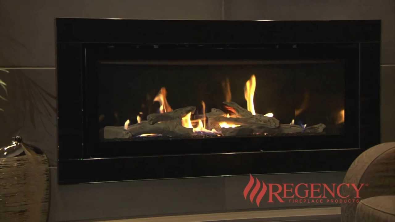 Regency Horizon HZ54E large gas fireplace YouTube
