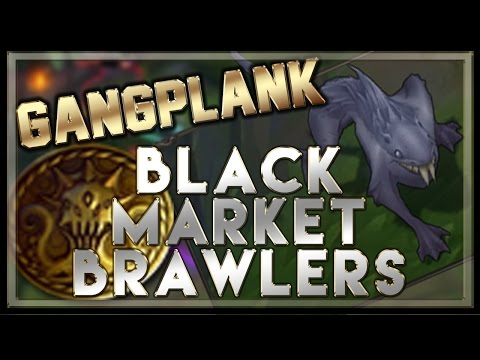 Black Market Brawlers Gameplay (Gangplank Top/Razorfin Brawler) - League of Legends