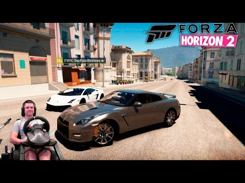 Nissan GT-R vs Lambo Gallardo LP570 в компании Sonchyk и OnePoint Forza Horizon 2