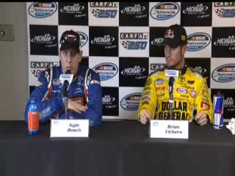 Kyle Busch and Brian Vickers @ Michigan Media Center together Video