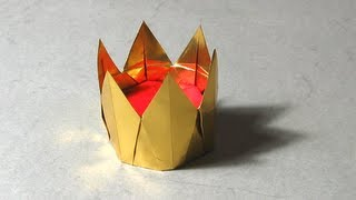 Origami Instructions: 6-pointed Crown (christiane Bettens)