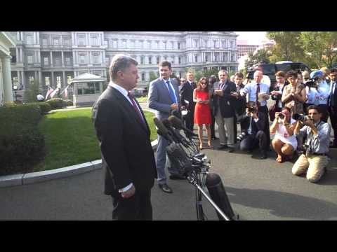 CI Ukraine with President Petro Poroshenko following meeting with Obama  Sept  18, 20141
