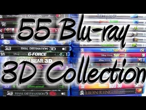 My Complete Entire 3D blu-ray Collection 55 Films Overview