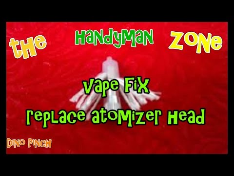 how to replace atomizer head in your vape if it stops working. this is the fix
