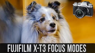 Focus Modes of the Fujifilm XT-3