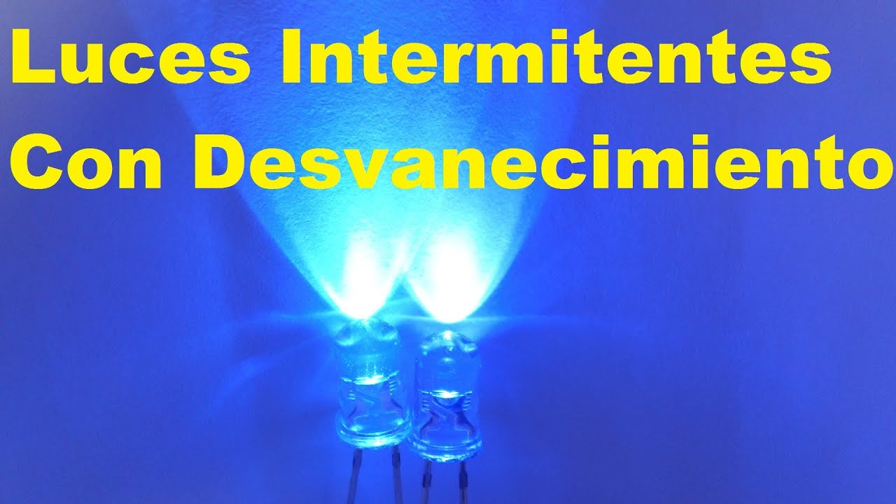 Circuito Luces Led Intermitentes : Led intermitente con desvanecimiento fácil de hacer