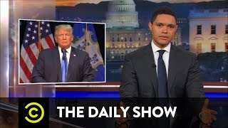 "The Media Falls for ""Presidential"" Trump (Again): The Daily Show"