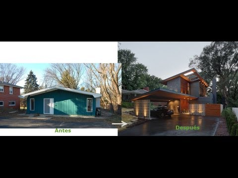 Remodelar casa peque a fachada y dise o interior for Casa moderna 6 00 m x 9 00 m 2 pisos interior