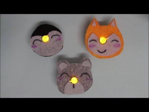 DIY: LED-Teelicht Tiere / #Teelichter #mfg #MiteinanderFantasievollGestalten