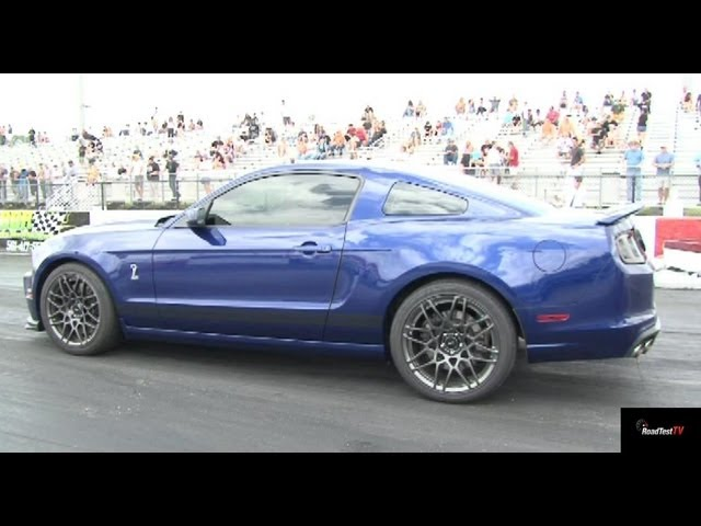 2013 Shelby GT500 v 2013 ZL1  - Heads up Race 2 - 1/4 mile Drag Race Video - StreetCarDrags