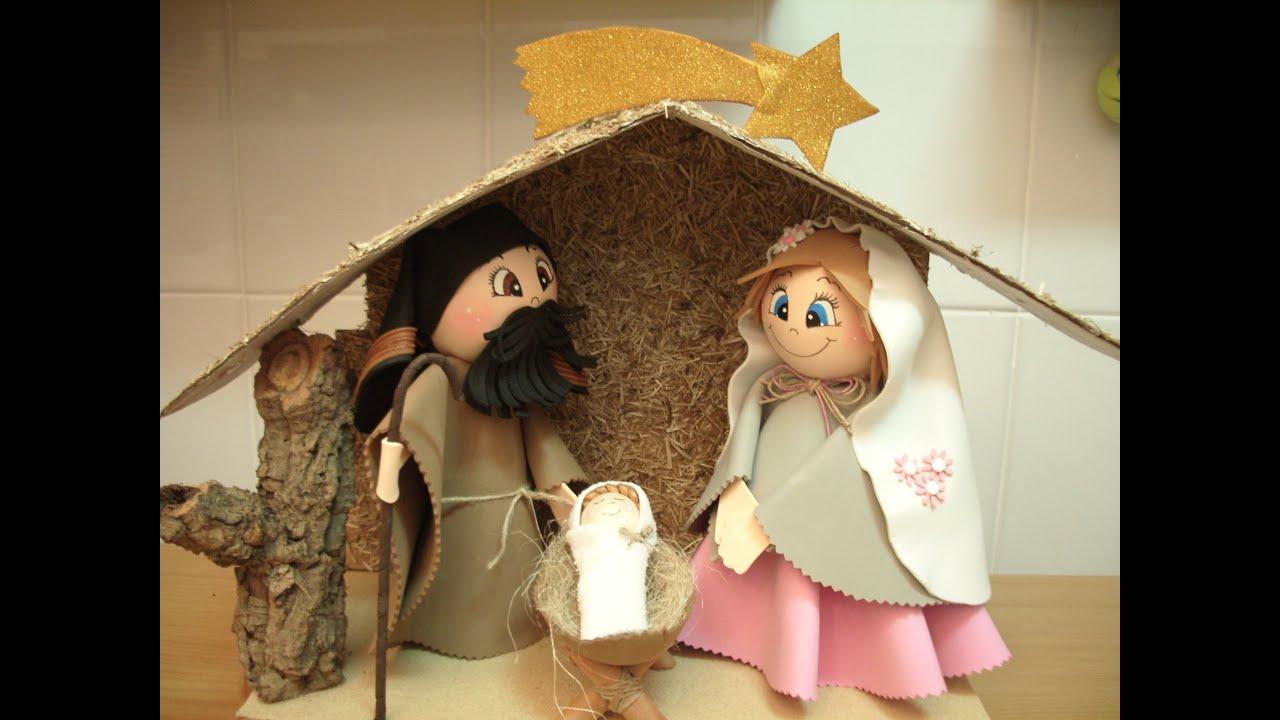Como hacer nacimiento en goma eva fofuch s youtube - Cosas de navidad para hacer en casa ...