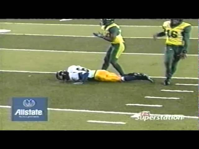 Keith Lewis throatslash penalty extends drive for Cal 11-08-2003