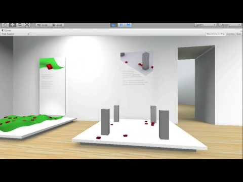 Unity Progress: City Exhibtion Space - Agent Based Modelling
