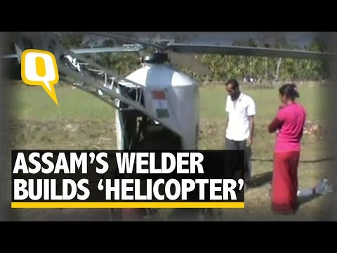 Class Three Pass Out Welder Builds His Own Helicopter in Assam