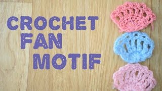 how to make crochet fan motif [HD]