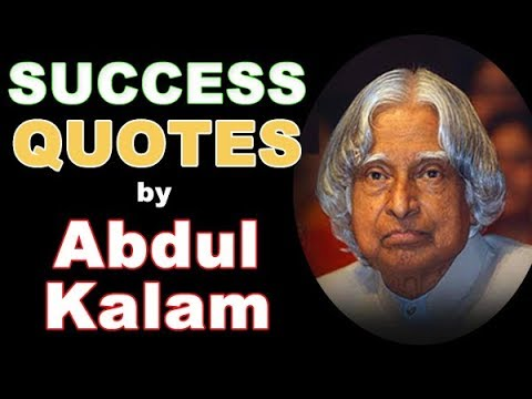 Success Quotes By Dr A P J Abdul Kalam Youtube