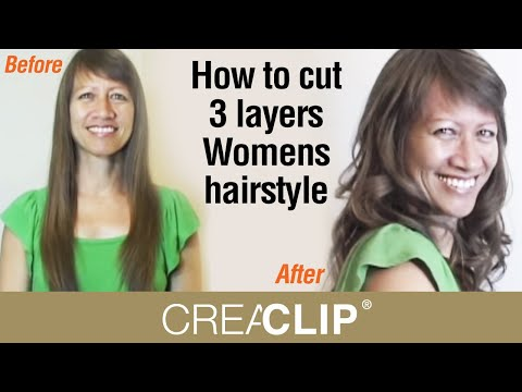 How to cut 3 layers Womens hair