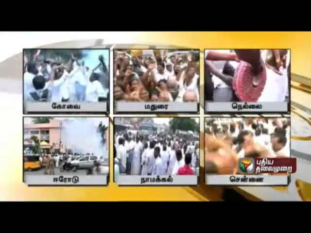 Celebrations of ADMK members from across the state on the acquittal of Jayalalithaa