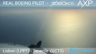 Real Airline Pilot LIVE (X - Plane 11 - ZIBO MOD 737) - Lisbon (LPPT) to Tenerife South (GCTS)