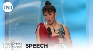 Sandra Oh: Award Acceptance Speech | 25th Annual SAG Awards | TNT