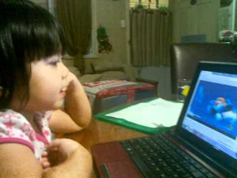 3 Years And 8 Months Old Baby Eppie Singing Pororo Theme Song :) video