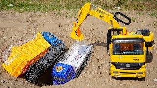 Excavator Dump Trucks troll Truck Toys Animals Truck, Transport Truck | Crane Truck Toys TOTO TV
