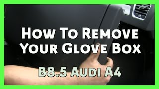 How to Remove Your Glove Box - AUDI A4 B8 / B8.5 2008-2014 (Wolf Auto Parts)