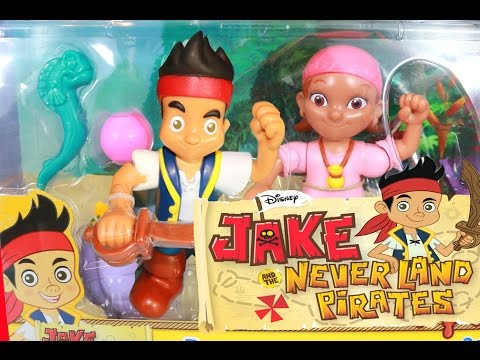 Fisher Price Jake & The Never Land Pirates Disney Junior Battling Izzy Pirate Ship Toy Review Video
