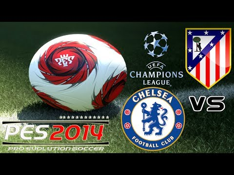 PES 2014 UEFA Champions League Chelsea vs Atletico Madrid exibition match