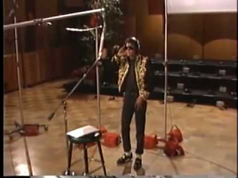 RARE Michael Jackson recording in Studio We are the World long...