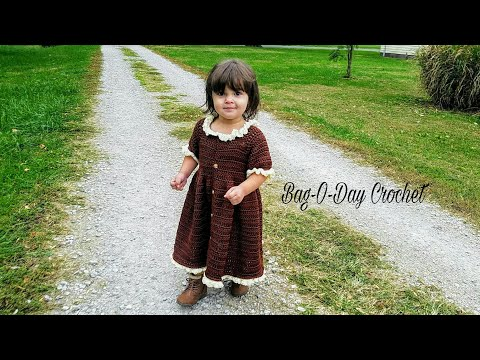 #CROCHET DRESS Little Pilgrim CROCHET Toddler Dress Baby dress Crochet DRESS Tutorial #428