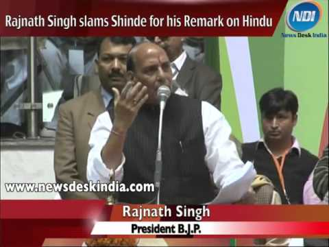 Rajnath Singh slams Shinde for his Remark on BJP and RSS