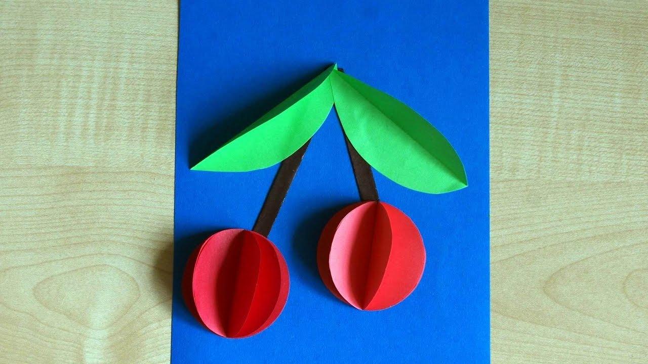 Детские поделки с цветной бумаги 35